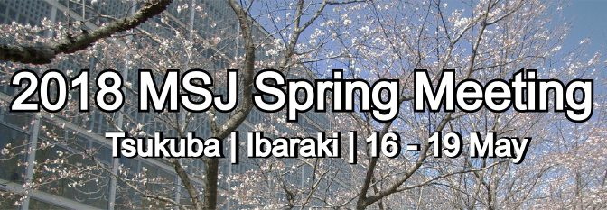 The MSJ 2018 Spring Meeting Banner